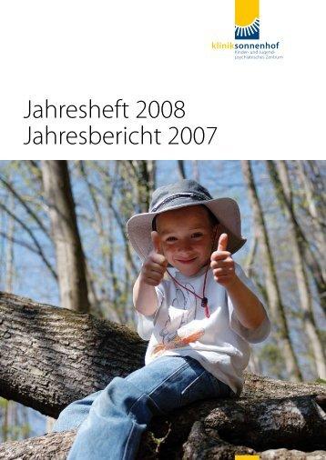 Jahresheft 2008 Jahresbericht 2007 - Klinik Sonnenhof