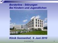 Borderline - Störungen Bei Kindern und ... - Klinik Sonnenhof