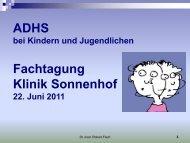 ADHS Fachtagung Klinik Sonnenhof