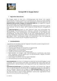 Konzept DBT-A-Gruppe Merkur - Klinik Sonnenhof