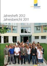 Jahresheft 2012 Jahresbericht 2011 - Klinik Sonnenhof