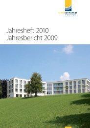 Jahresheft 2010 Jahresbericht 2009 - Klinik Sonnenhof