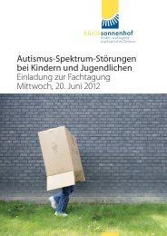 Autismus-Spektrum-Störungen bei Kindern und ... - Klinik Sonnenhof