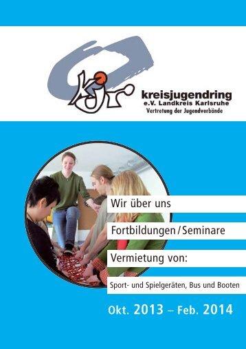 Programmheft 2013/2014 - Kreisjugendring Karlsruhe eV