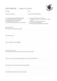 LEESVERSLAG groep 6 (+14 jaar) - Kinder en jeugdjury