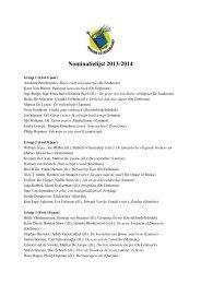 Nominatielijst 2013-2014