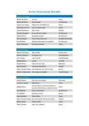 Archief: Nominatielijst 2002-2003