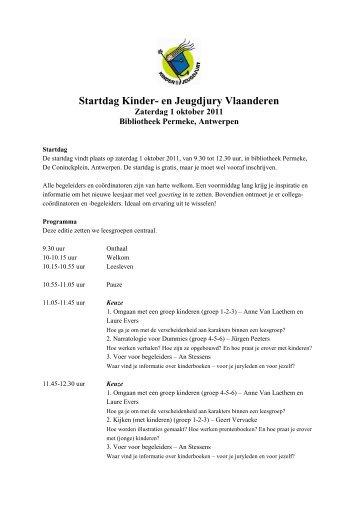 Startdag Kinder- en Jeugdjury Vlaanderen