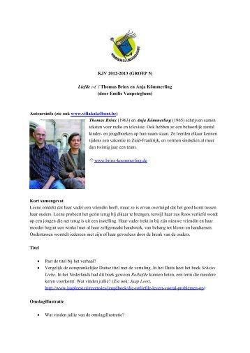 KJV 2012-2013 (GROEP 5) Liefde :-( / Thomas Brinx en Anja ...