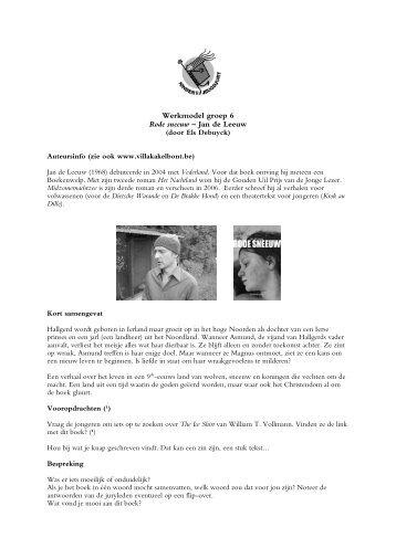Werkmodel groep 6 Rode sneeuw – Jan de Leeuw
