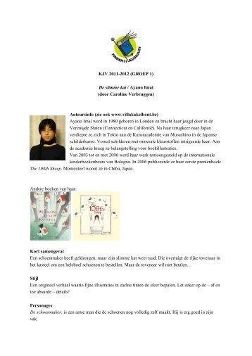 KJV 2011-2012 (GROEP 1) De slimme kat / Ayano Imai (door ...