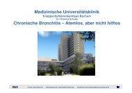 Medizinische Universitätsklinik Chronische Bronchitis – Atemlos ...