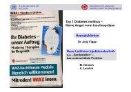 Typ 1 Diabetes mellitus – Keine Angst vorm Insulinspritzen ...