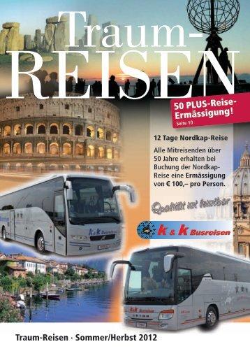 50 PLUS-Reise- Ermässigung! - k&k Busreisen