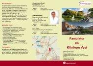 Flyer Famulatur - Knappschaftskrankenhaus Recklinghausen