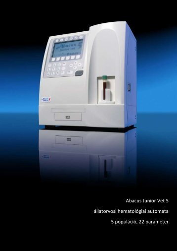 Abacus Junior Vet 5 állatorvosi hematológiai automata 5 ... - Diatron
