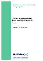 Rapport Värden och värdekedjorF.pdf - KK-stiftelsen