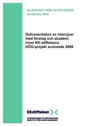 intervjuer med företag och akademi inom KK-stiftelsens HÖG-projekt ...