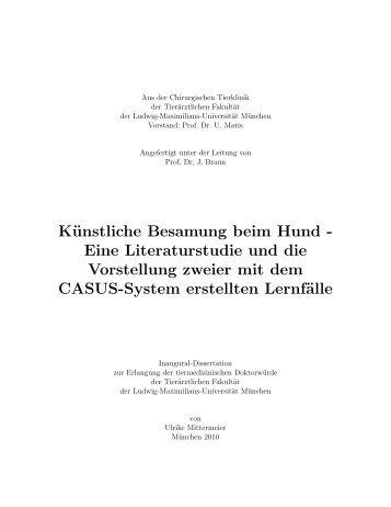 Künstliche Besamung beim Hund - Elektronische Dissertationen der ...