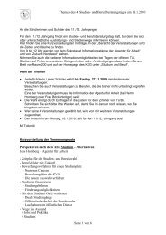 Themen des 4. Studien- und Berufsberatungstages am 18.1.2010 ...