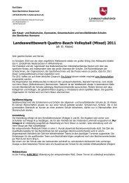 Ausschreibungen für den Bezirk Hannover 2011