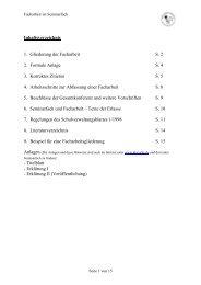 Inhaltsverzeichnis 1. Gliederung der Facharbeit S. 2 2. Formale ...