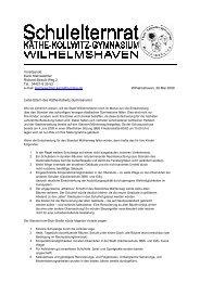 Karin Kleinwächter Richard-Strauß-Weg 2 Tel.: 04421-8 35 53 e-mail