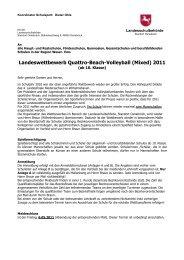 Ausschreibungen für den Bezirk Weser-Ems 2011