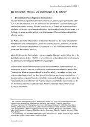 Hinweise und Empfehlungen für die Schulen - Niedersachsen