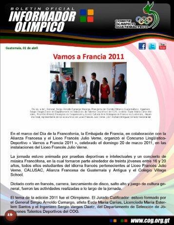 boletin-016 - Comite Olimpico Guatemalteco
