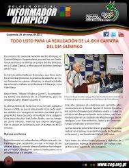 boletin-030 - Comite Olimpico Guatemalteco