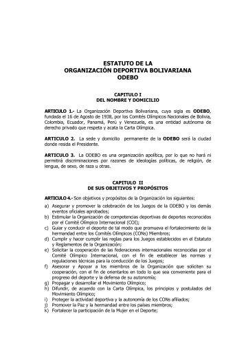 Estatutos de la ODEBO - Comite Olimpico Guatemalteco