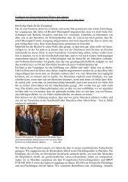 Grußwort des Superintendenten Pfarrer Jens Sannig beim Besuch ...