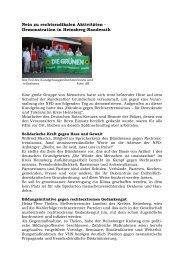 Nein zu rechtsradikalen Aktivitäten - Demonstration in Heinsberg ...