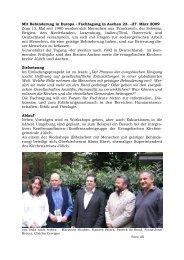 Fachtagung in Aachen 23. –27. März 2009 Zum 13. Mal seit 1980 ...