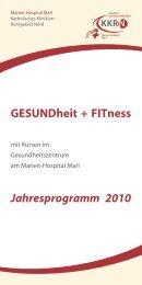 GESUNDheit + FITness Jahresprogramm 2010 - KKRN