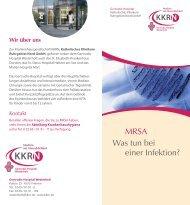 MRSA Was tun bei einer Infektion? - KKRN