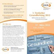 1. Vestischer Gesundheitstag 2012 17. März 2012 - KKRN ...