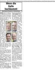 Vorbericht zur Abendsprechstunde vom 27. September 2010