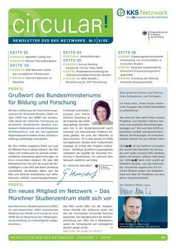 Newsletter Nr. 1, Juni 2008 PDF   (4,6 MB) - KKS-Netzwerk