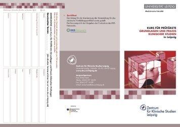 Kurs für Prüfärzte Flyer PDF | (1,09 MB) - KKS-Netzwerk