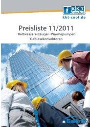 Preisliste 11/2011 - KKT-Cool