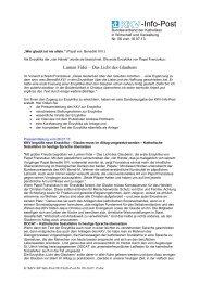 Infopost Nr. 6 - KKV Bundesverband