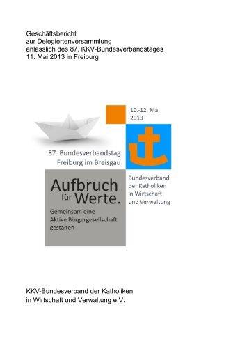 Geschäftsbericht 2011-2013 - KKV Bundesverband
