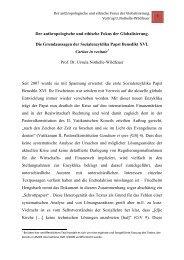 Der anthropologische und ethische Fokus der Globalisierung. Die ...