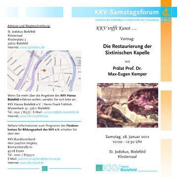 KKV-Samstagsforum KKVHANSA - KKV Bundesverband