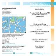KKV-Samstagsforum KKVBezirksgemeinschaft - KKV Bundesverband