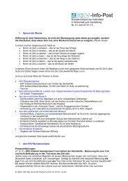 Infopost Nr. 1 - KKV Bundesverband