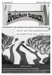 Brücken bauen Nr. 2 2012 - Evangelischer Kirchenkreisverband ...