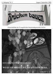 Brücken bauen Nr. 5 2009 - Evangelischer Kirchenkreisverband ...